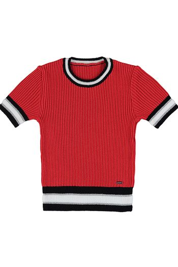 Mayoral Red and Black Summer Sweater (Size 12)