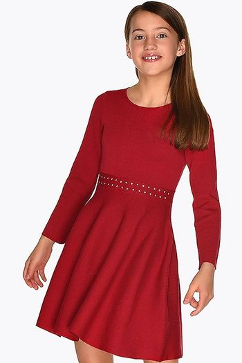 Mayoral Red Sweater Dress Girls (8,10,12,14)