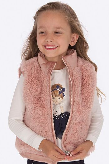 Mayoral Rose Vest Reversible Faux Fur (2,3,5)