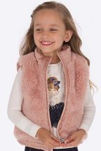 Mayoral Rose Vest Reversible Faux Fur (Size 2 to 7)
