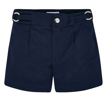 Mayoral Satin Shorts in Navy Blue (Size 4)