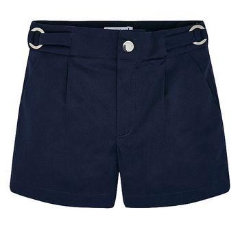 Mayoral Satin Shorts in Navy Blue (Sizes 2 to 8)