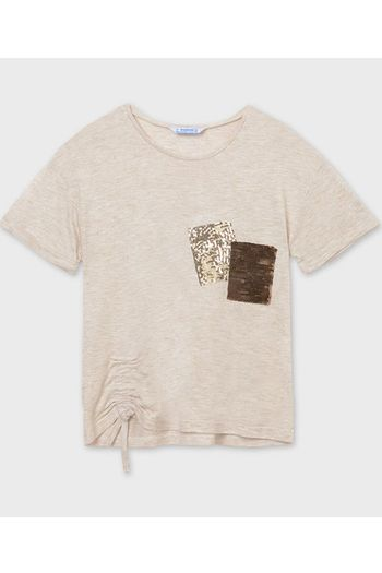 Mayoral Sequin Pocket Tween Tee