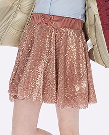 Mayoral Sequin Skirt in Rose Gold (Size 14)