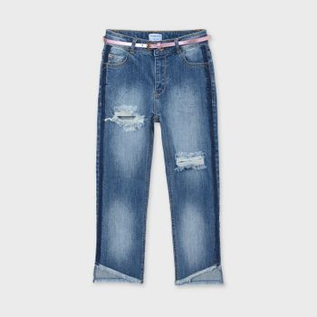 Mayoral Slim Cropped Denim Jean