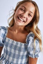 Mayoral Summer Tween Top Plaid Bees