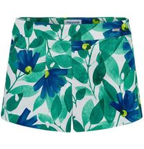 Mayoral Tropical Print Shorts (2 & 7)