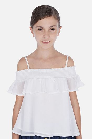 Mayoral White Ruffled Blouse SOLD OUT