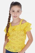Mayoral Yellow Off-The-Shoulder Top (8 & 12)