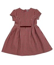 Mayroal Red Houdstooth Dress for Girls (Size 3 to 8)