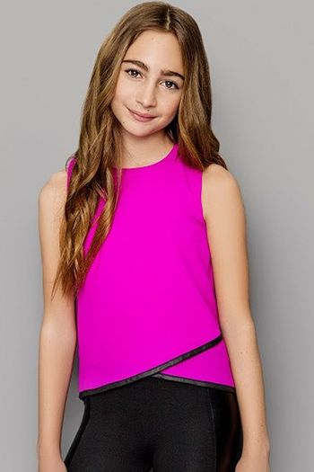 Mia New York Fuchsia Fancy Top (7/8 & 14)