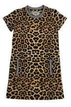 Mia New York Leopard Tween Dress (Size LG 12)