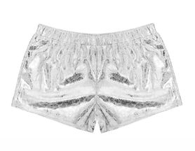 Mia New York Metallic Shorts (6X, LG 12, XL 14)
