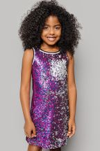 Mia New York Sequin Dress in Purple for Tweens