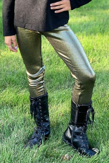 Mie New York Gold Metallic Legging (12 & 14)