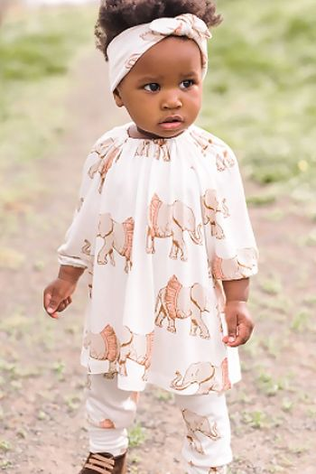 Milkbarn Dress Set Tutu Elephant (Size 12-18Mos)