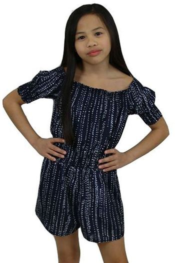 Miss Behave Romper in Navy (Size 10)