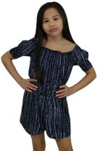 Miss Behave Romper in Navy (8 & 10)