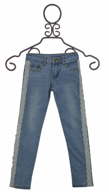 ML Kids Denim Jeggings with Lace SOLD OUT