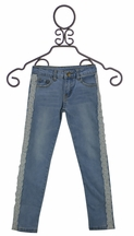 ML Kids Denim Jeggings with Lace (Size 12)
