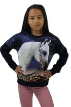 Molo Arabian Horse Sweatshirt in Navy