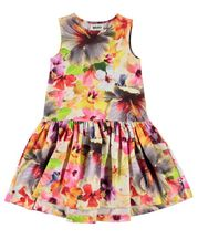 Molo Girls Summer Dress Knit Pacific Floral (2/3 & 3/4)
