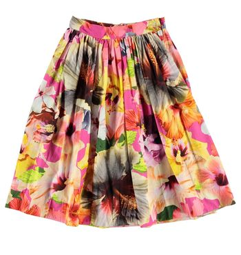 Molo Midi Skirt for Girls Pacific Floral (Size 3/4)