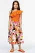 Molo Midi Skirt for Girls Pacific Floral (Size 3/4) Alternate View