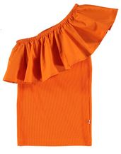 Molo Orange One Shoulder Top for Girls (Size 5/6)