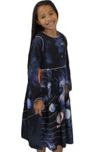 Molo Solar System Navy Dress for Girls (Size 9/10)