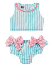 Mud Pie Aqua Bow Two Piece Swimsuit