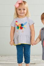 Mud Pie Chicken Tunic and Capri Set (2T,3T,4T)