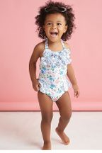 Mud Pie Floral Swimsuit (Size 6Mos)