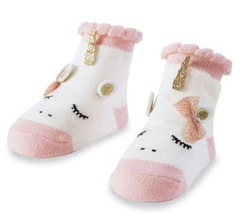 Mud Pie Pink Unicorn Sock for Infants