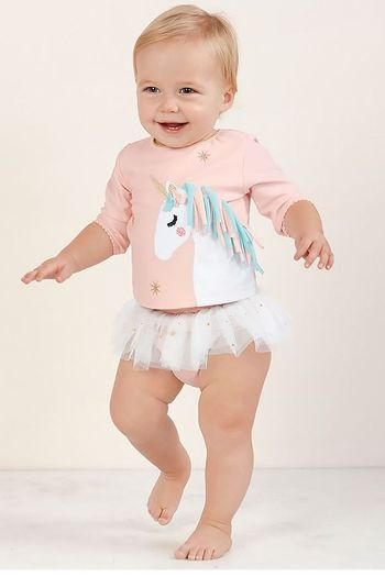 Mud Pie Unicorn Rash Guard Set (6Mos & 4T)