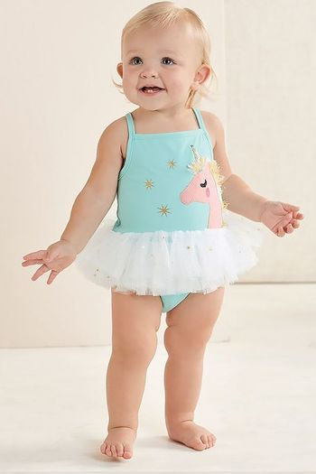 Mud Pie Unicorn Swimsuit (Size 5T)