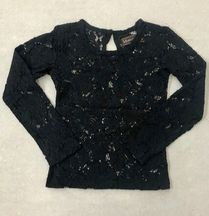 Mustard Black Lace Top Snowfall (Size 2T)