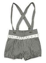 Mustard Pie Becket Bloomer Black & White Check (12Mos,2T,3T,4T,5,6)
