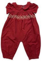 Mustard Pie Bella Romper for Girls in Red (12Mos,18Mos,24Mos,2T)