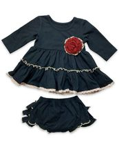Mustard Pie Black Infant Holiday Dress