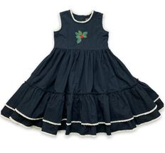 Mustard Pie Black Ryan Dress for Girls Snowfall (2T,6,6X,10)