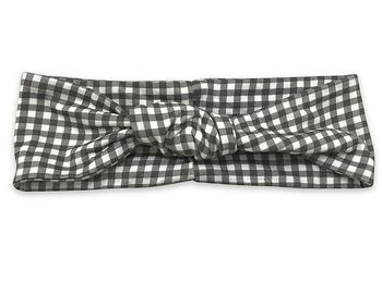 Mustard Pie Black & White Check Headband Gidget