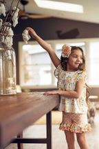 Mustard Pie Ellie Short Set Honey Blossom (Size 6)