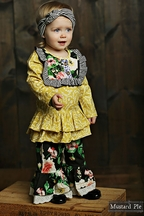 Mustard Pie English Blue Colette Set (12Mos & 18Mos)