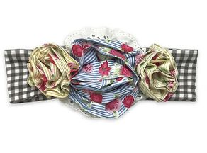 Mustard Pie Flora Headband Strawberry Field (Size Tween)