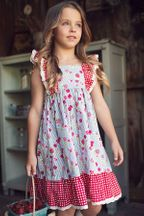 Mustard Pie Girls Dress Strawberry Field