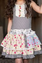 Mustard Pie Girls Skort Strawberry Field (4,5,6)
