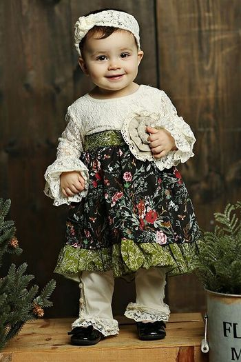 Mustard Pie Holiday Olivia Dress Set (3T,5,6,6X)