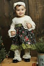 Mustard Pie Holiday Olivia Dress Set (18Mos,3T,5,6,6X)