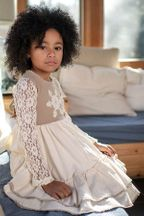 Mustard Pie Ivory Girls Dress Ryan